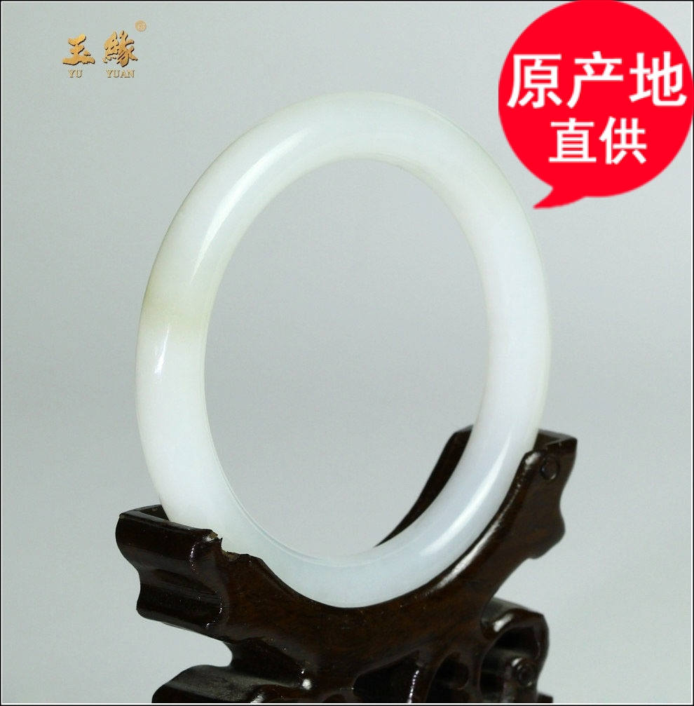 Xinjiang hetian jade bracelets suet jade bracelet jade bracelet natural jade bracelet round of the jade is for her mother with a certificate free shipping