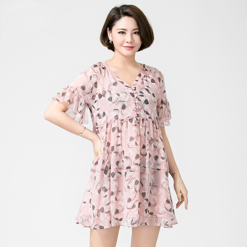 Get Quotations · Xl women fat people fat sister mm fat girls summer clothes  korean version of the v