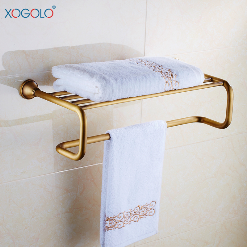Xogolo european antique bathroom towel rack bathroom towel racks full of copper metal pendant 9388