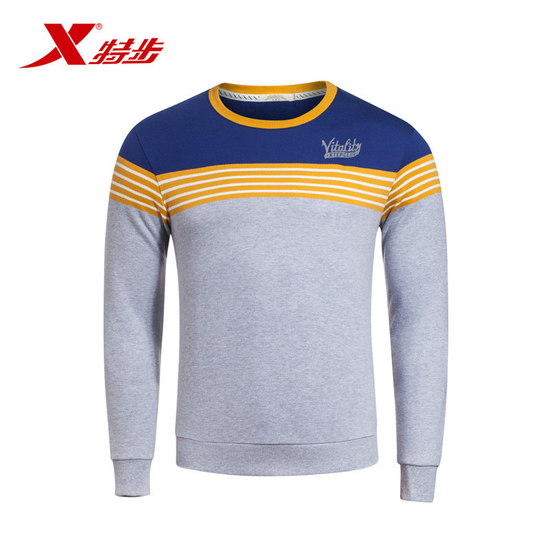 Xtep genuine counter the same paragraph 2016 autumn new men's pro skin breathable comfort hedging sweater cotton long t