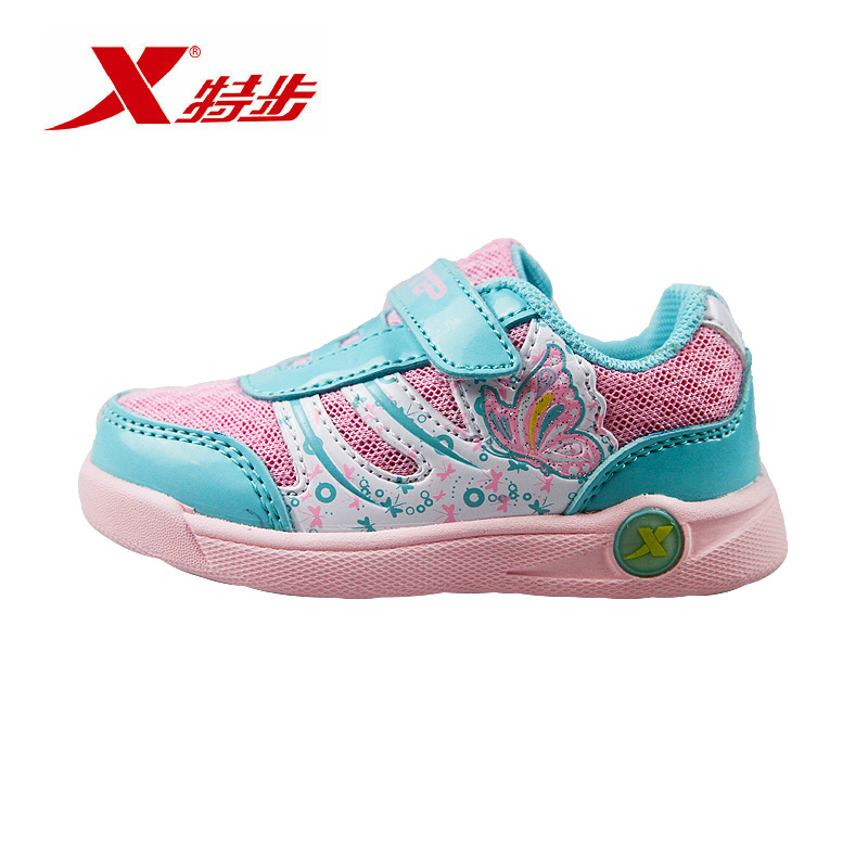 Xtep shoes big boy shoes girl shoes sneakers running shoes running shoes for children in autumn bright fashion wild female shoes