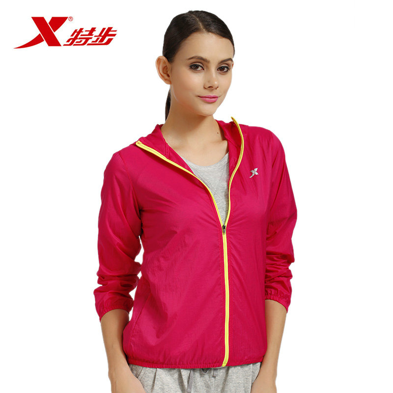 Xtep/xtep [official] xtep ladieswear hundred ride wicking windproof and lightweight spring and summer casual women windbreaker