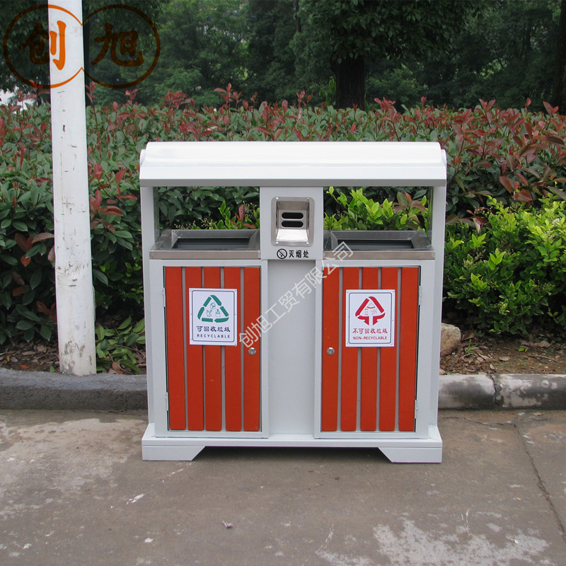 Xu chong wood trash bins outdoor trash bins outdoor trash sanitation residential trash trash trash classification
