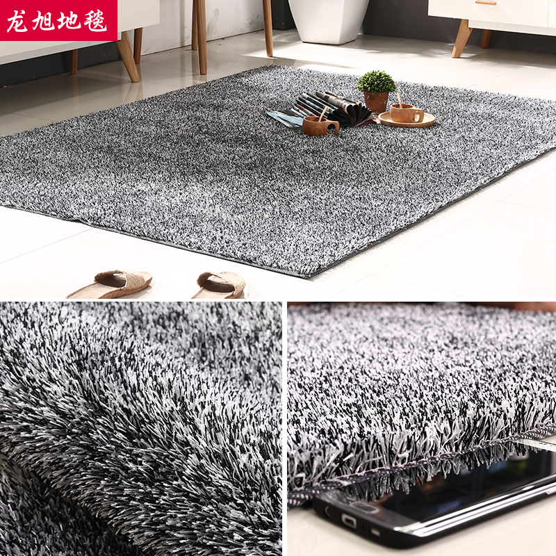 Xu long liangsi korean silk carpet thick carpet bedroom bedside european minimalist living room coffee table can be customized