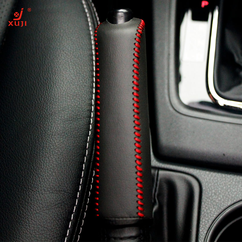 Xu remember 2013 forester handbrake sleeve car special sew leather handbrake handbrake sleeve protective sleeve