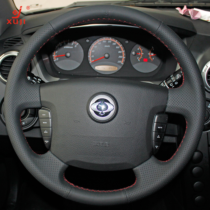 Xu remember ssangyong actyon car special sew leather steering wheel cover car leather grips