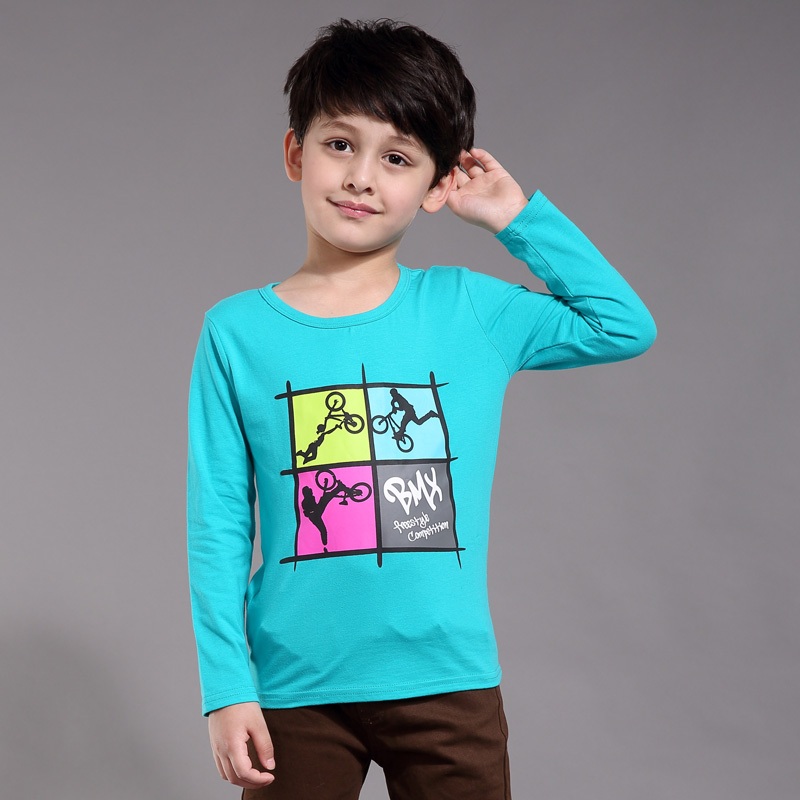 Xu ze kids spring new children's clothing boys long sleeve t-shirt big virgin boys round neck cotton children's t-shirts