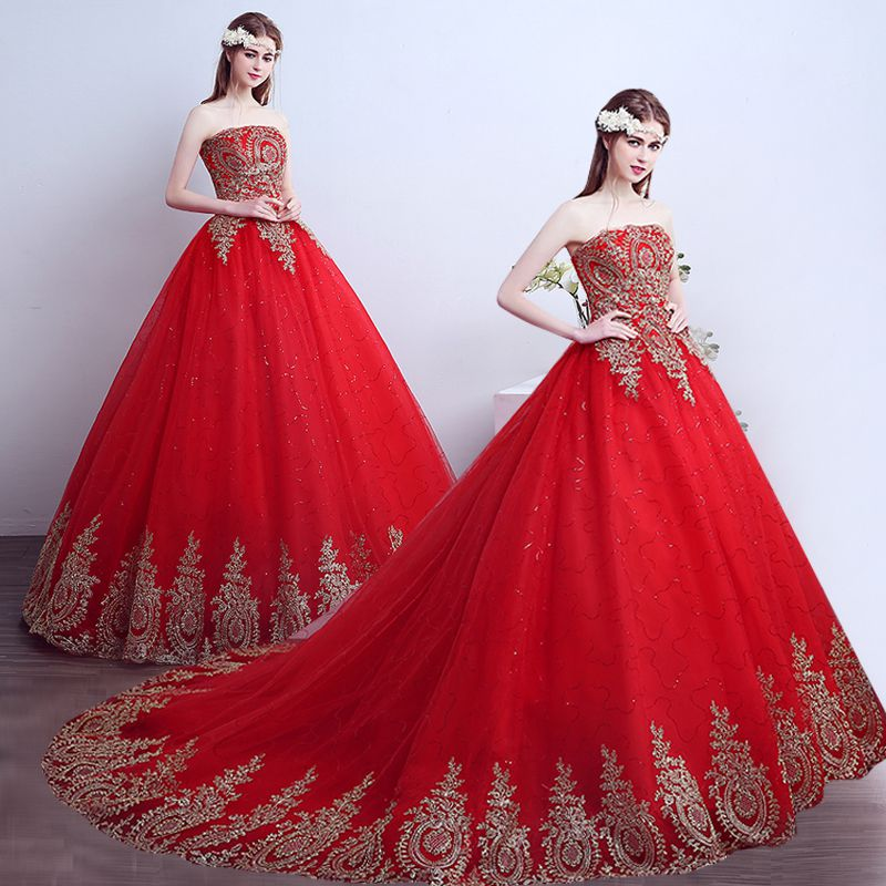 Get Quotations Xuan Bride Wedding Dress Red 2016 New Qi Trailing Was Thin