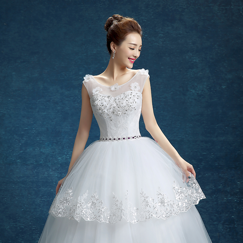 Xuan bride word shoulder wedding dress 2016 new korean shoulder wedding dress wedding dress was thin qi wedding wmz