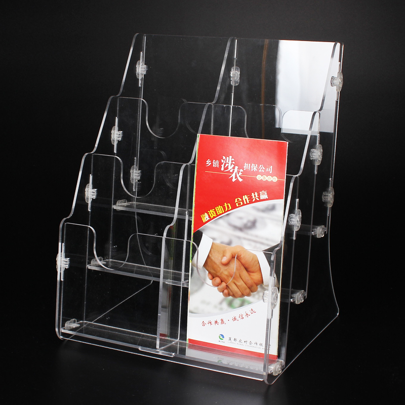 Xuan moving letter box office desktop storage box transparent acrylic rack bills bank counter display bg30