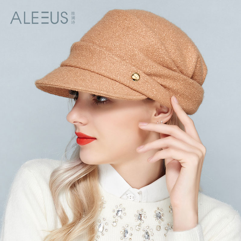 68bc6e5f87ce Get Quotations · Ya lan 2015 new winter poem french elegance wool woolen beret  hat ceremony hat fashion millinery