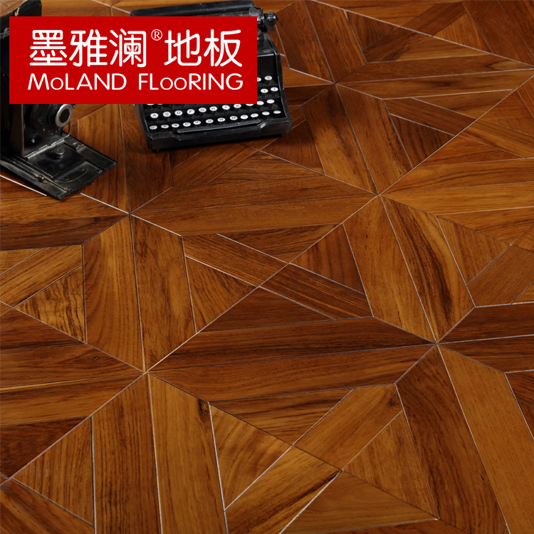 Ya lan ink myl art parquet flooring engineered wood flooring pure burmese teak wood parquet