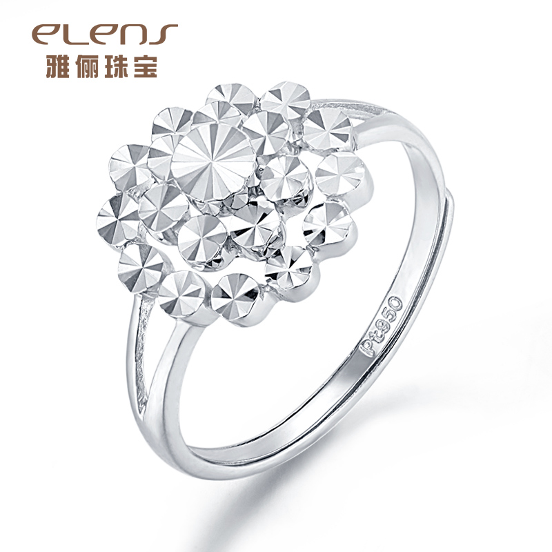 Ya li jewelry platinum ring female pt950 platinum jewelry simple and stylish custom to marry wedding ring gift