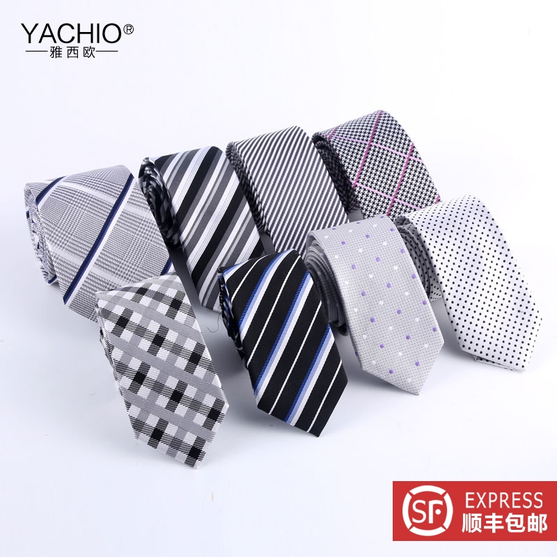 Ya xiou narrow version of men's 6cm korean version of business casual dress silk tie silk tie men sf