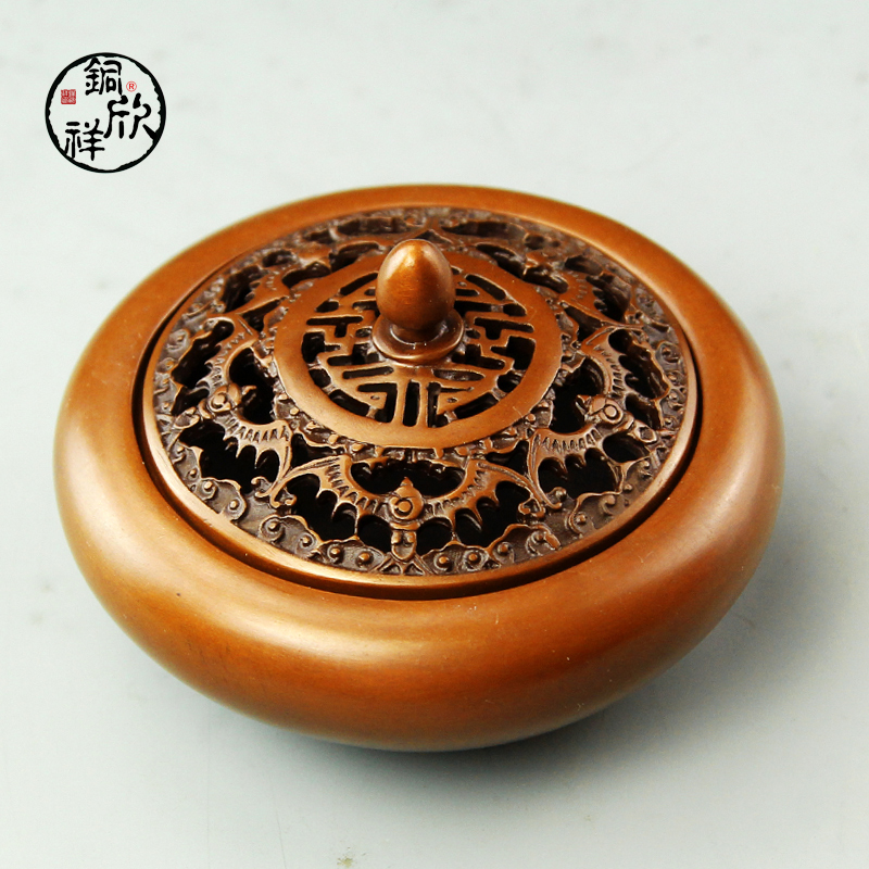 Yan cheung copper copper incense censer vaporizer home five serotirus with life temple incense censer supplies Vaporizer
