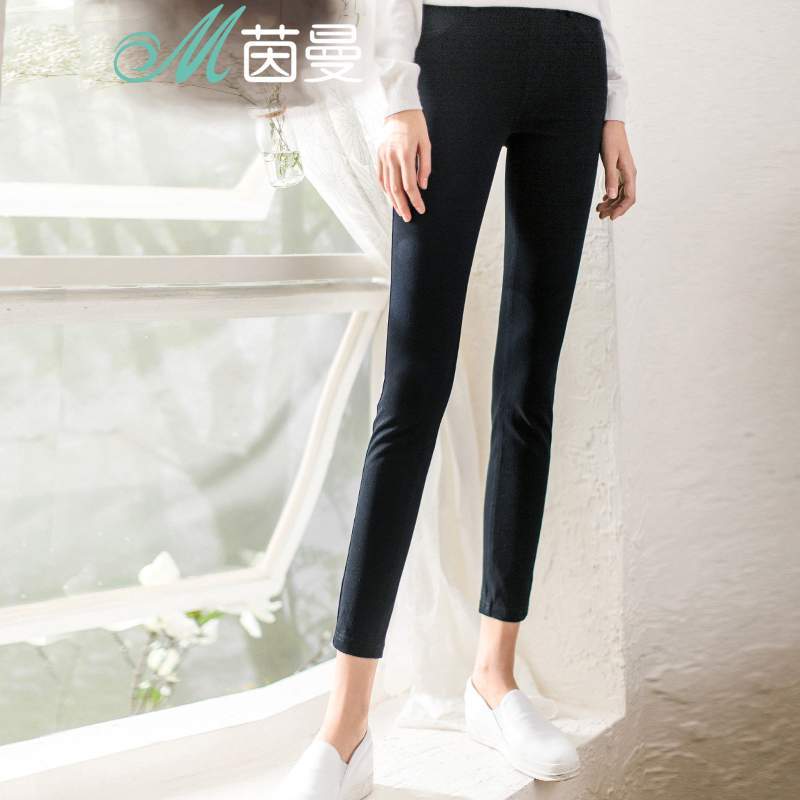 Yan man flagship store 2016 spring and autumn new wild thin elastic waist pants outer wear leggings tight pants female