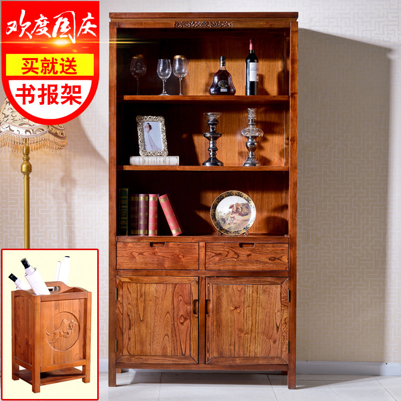 Yan yi modern chinese classical chinese wood bookcase shelf wine cabinet lockers with doors bookcase free combination