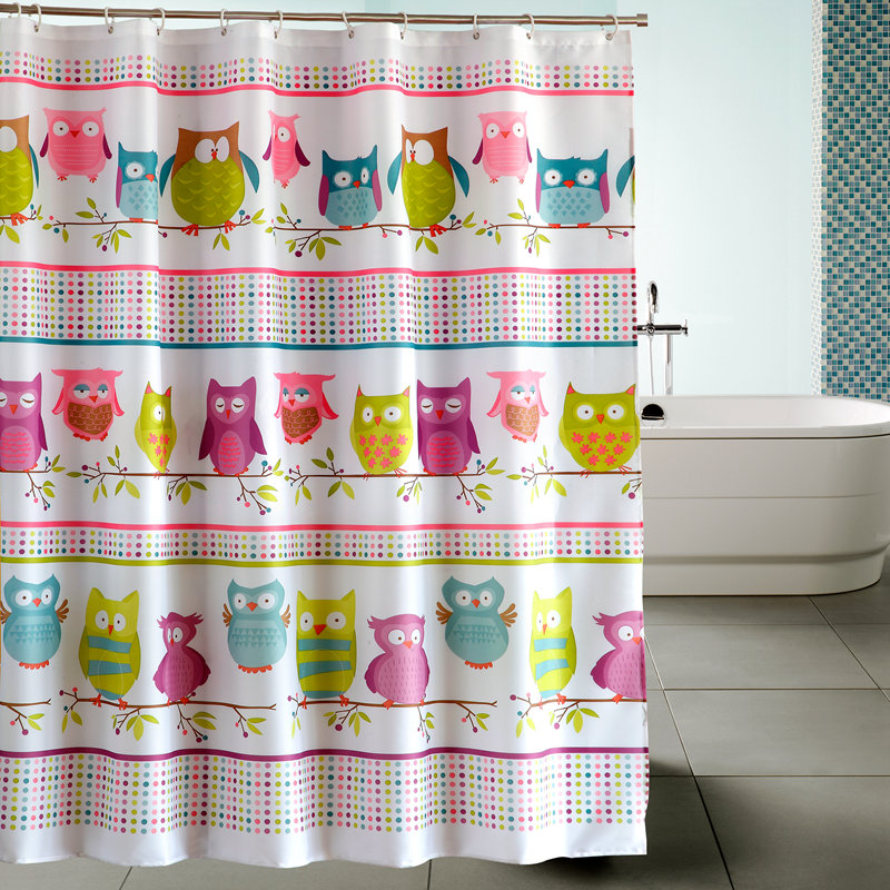 Yang yun new owl waterproof bathroom shower curtain mildew thick polyester shower curtain hooks to send heavier sinker