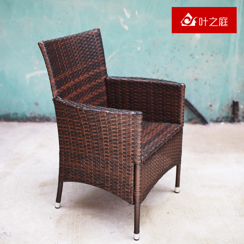 Ye ting three sets of tables and chairs for outdoor rattan chairs balcony outdoor wicker chair wicker chair indoor leisure negotiating tables and chairs child