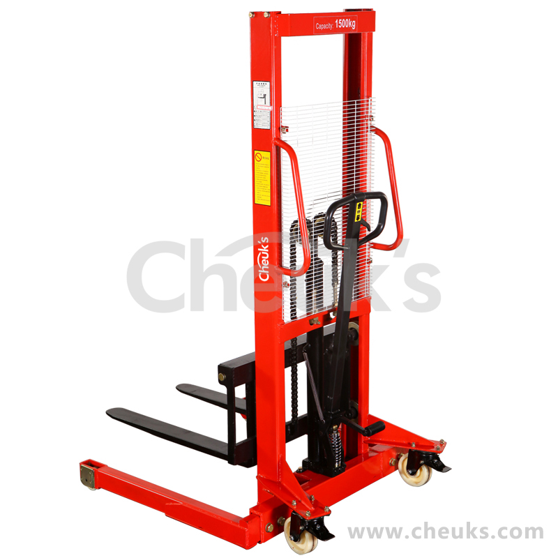[Years celebration] a total of 1 tons 3 m wide leg manual forklift manual hydraulic stacker stacker hoisting Truck
