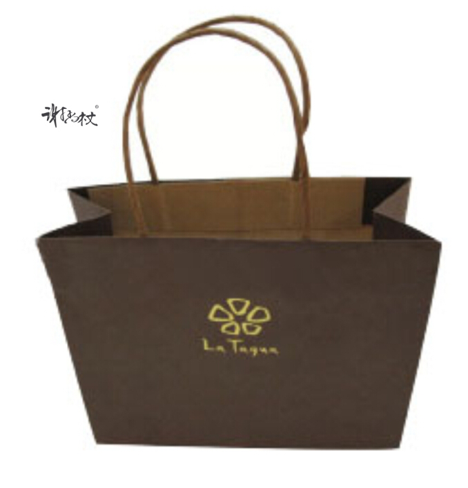 Yellow kraft paper bag custom made tote bag jewelry gift company dedicated paper bag garment bag