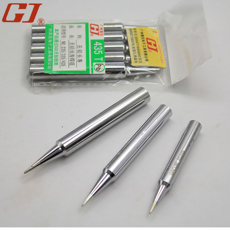 Yellow (noble) soldering iron tip NO.420/435/450 t standfor (mouth) suitable for electric soldering iron