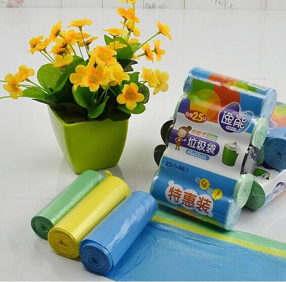 Get Quotations Yi Can Pouch Trash Garbage Bags Hygiene Thicker Disposable Color Free Shipping 5 Wrap
