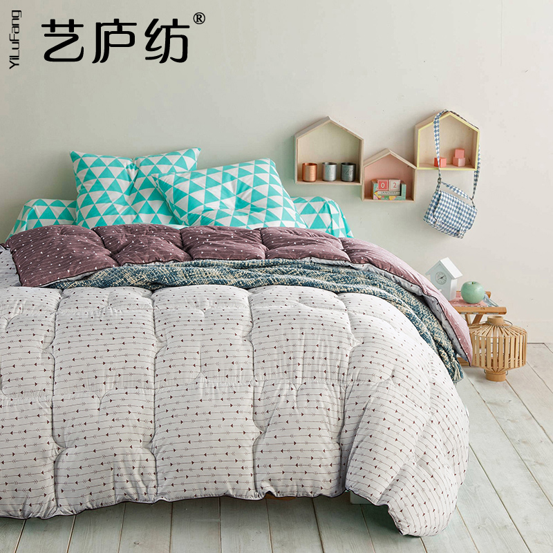 Yi lu spun spring is feather velvet double thick warm winter quilt quilts core student dormitory beds futon