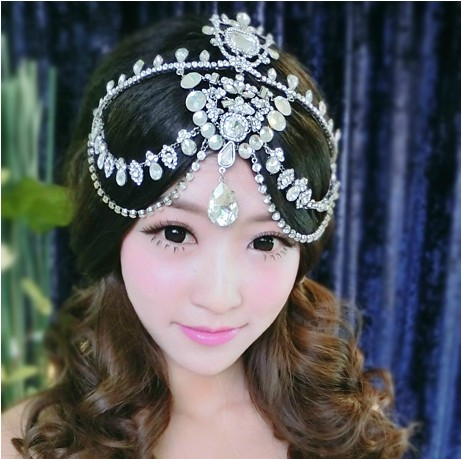 Yi mandi bride retro makeup styling bridal tiara crown rhinestone tiara wedding accessories headdress new mother