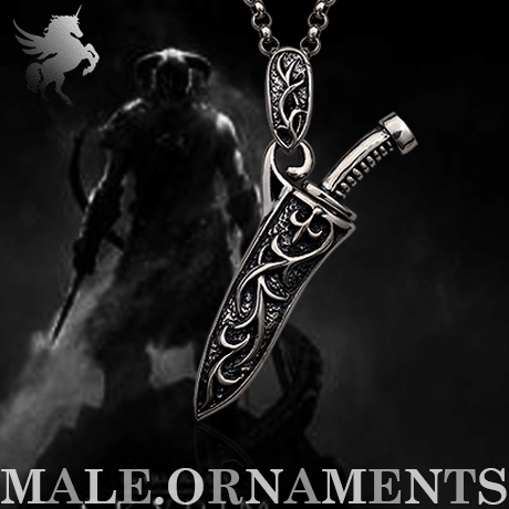 Yi mining men short necklace 925 silver pendant fashion thai silver swordsman hipsters hanging jewelry domineering personality super handsome cool
