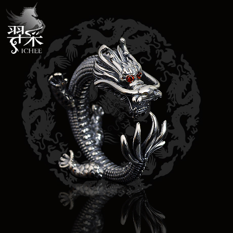 Yi mining men thai silver dragon ring ring ring 925 silver jewelry ring tail ring ring finger domineering original design jewelry