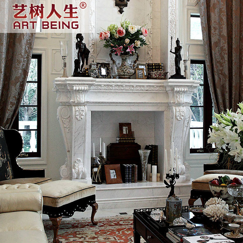 [Yi tree of life] european indoor fireplace mantel fireplace decoration cabinet fireplace fireplace carved exquisite custom fireplace popularity