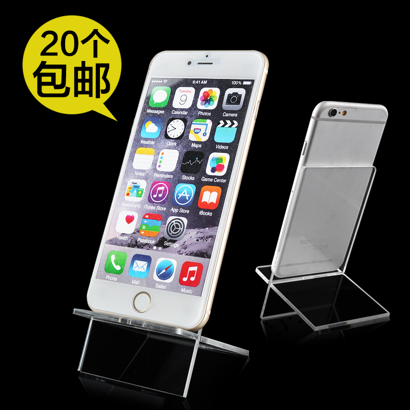 Yi xi micro mobile phone display stand prop counter bracket transparent acrylic mobile phone holder 3c number码shop supplies