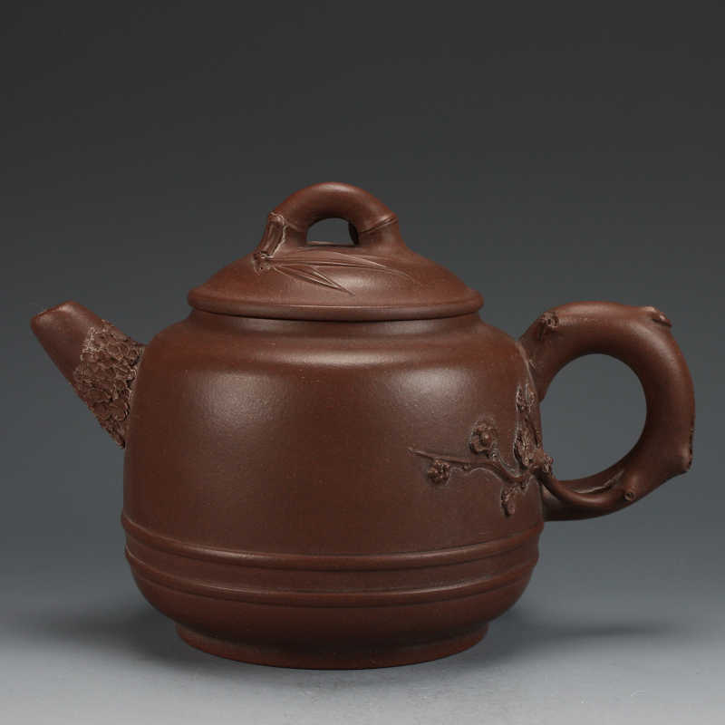 Yin tea teapot yixing purple clay teapot old high songjukmae pot huanglongshan old purple clay pot 420cc collectibles