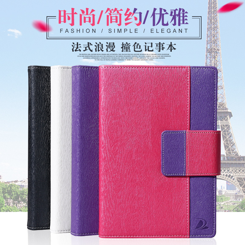 Ying li jia office stationery korea stationery business notebook leather notebook diary book a5 custom