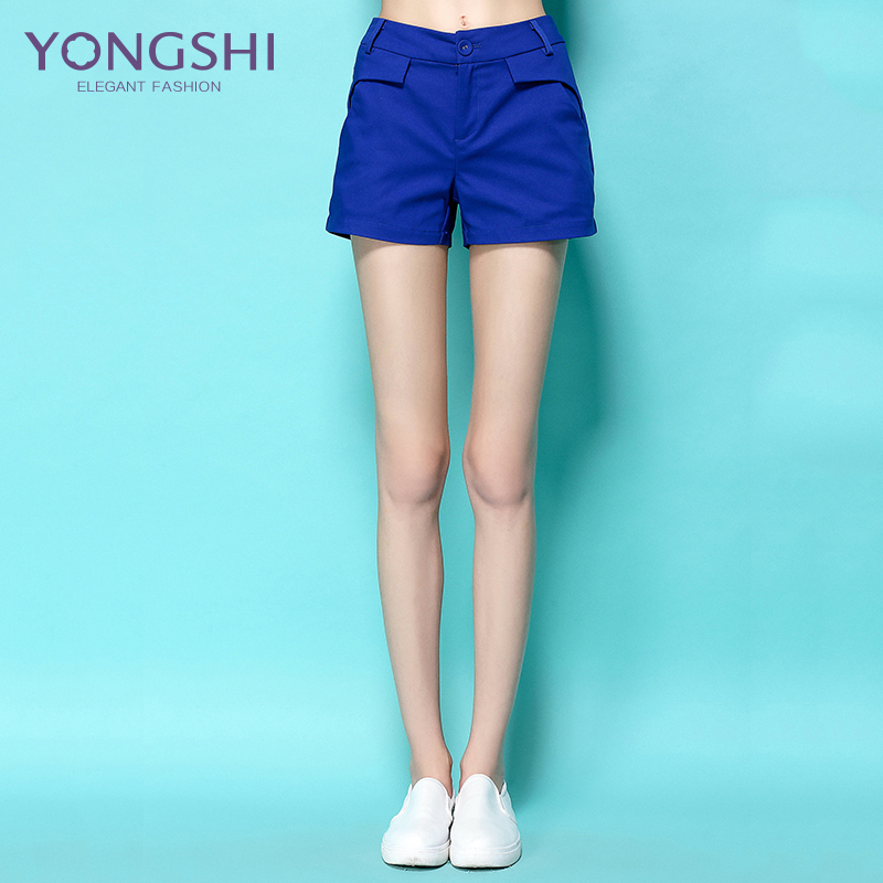 Yong shi 2016 summer new women's fashion wild high waist wide leg type 5B1111 casual short pants shorts
