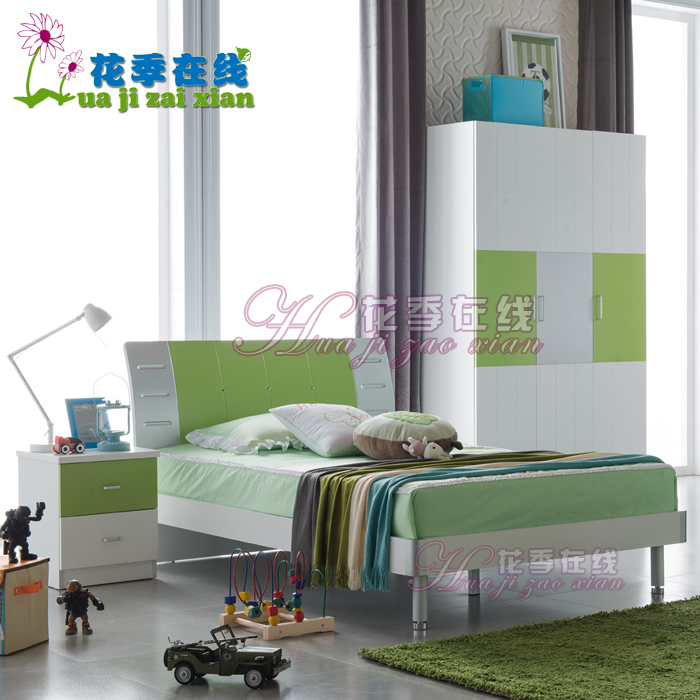 Youth online adolescent children's bed boy and girl twin bed storage bed 1.2 m beds