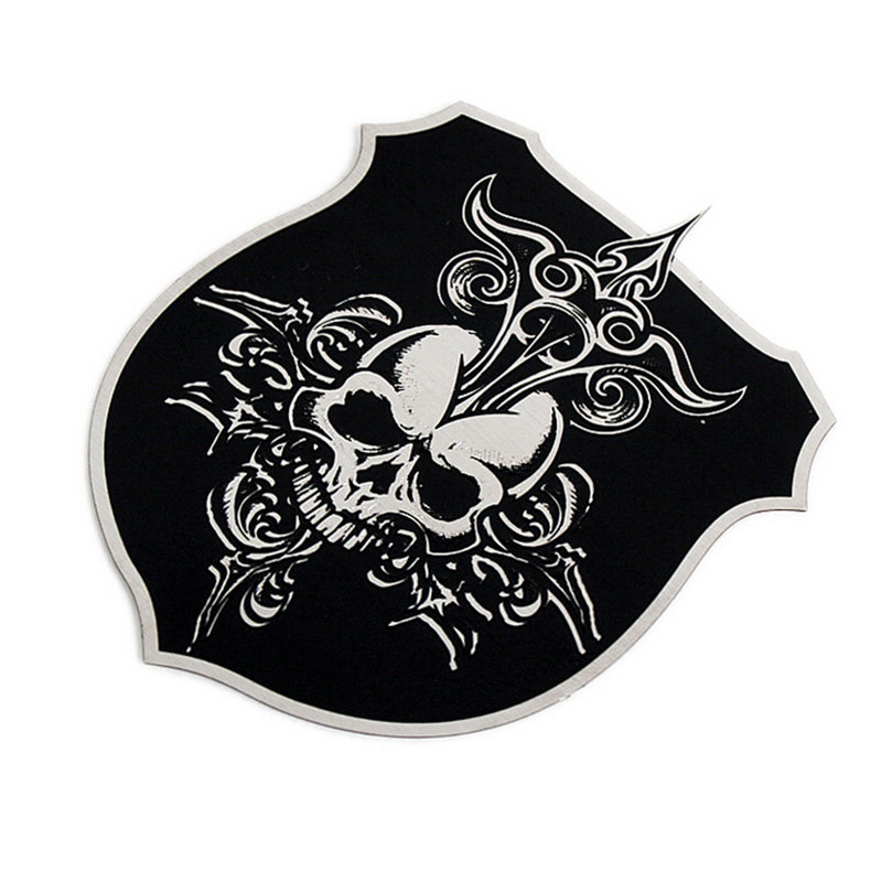 YT-CT skull shield standard high texture thin stainless steel metal thin paste stickers affixed modified car stickers decorative car standard