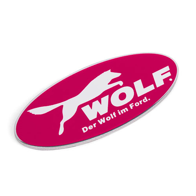 YT-CT-WOLF (ford modified) aluminum alloy modified car stickers car standard metal personalized car standard modified nameplate