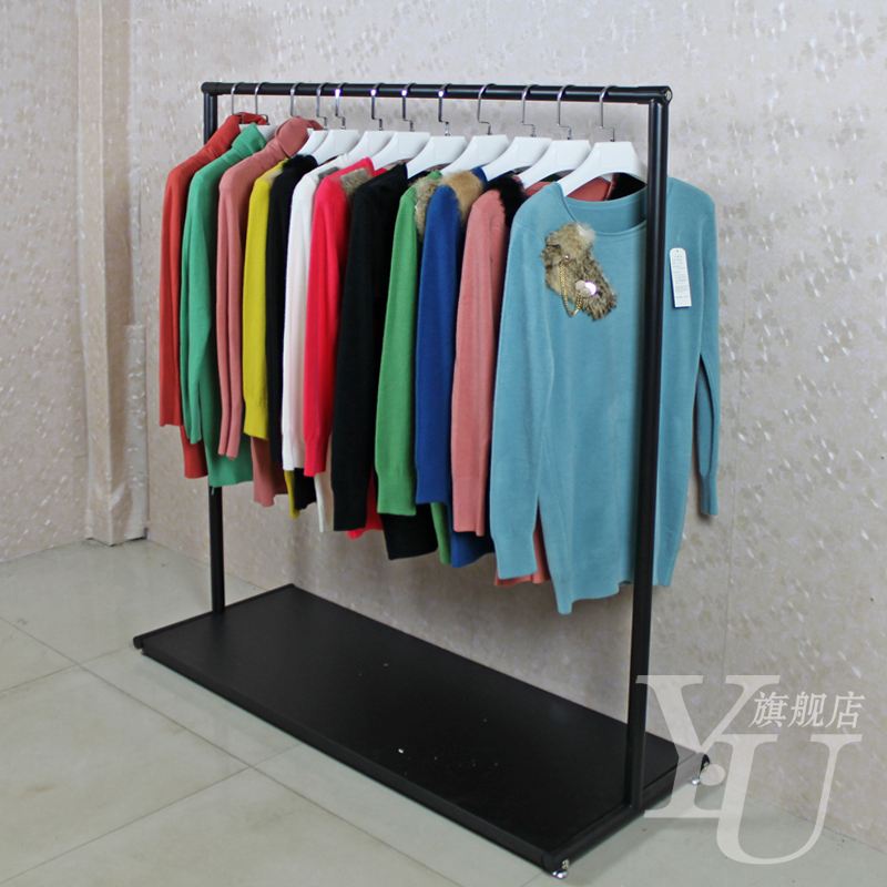 Yu clothing store clothing rack clothing store display racks for hanging clothes rack clothing racks landing pendant with board