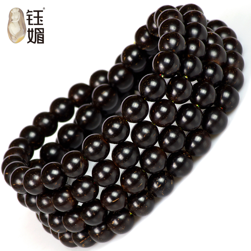 Yu mei natural coir pedicle material gold beads perfect circle 108 more than the size of wooden beads bracelets man playing fine polishing