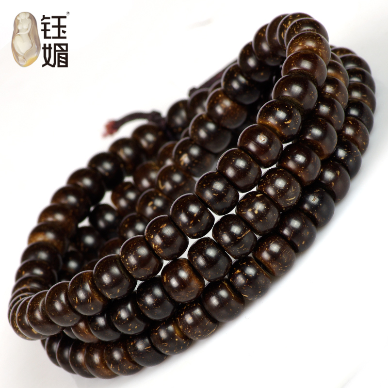 Yu mei natural gold material loach back coconut pedicle 108 prayer beads bracelets section 18000 orders and more styles