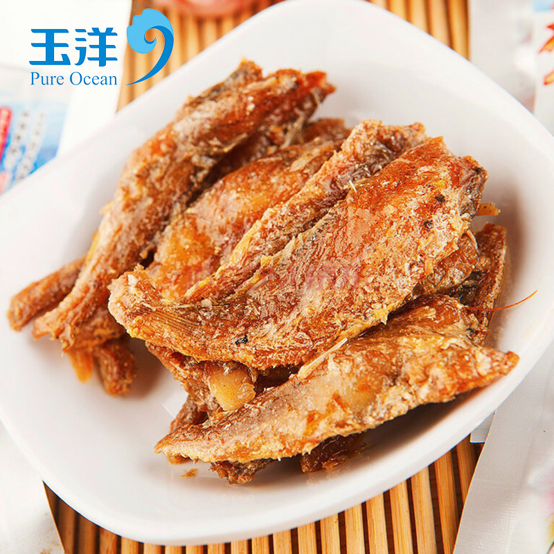 Yu yang crispy lo g free shipping small yellow croaker dalian specialty spicy snacks ready to eat seafood snack
