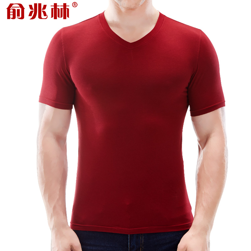 Yu zhaolin 2016 new summer men's short sleeve t-shirt korean slim v-neck cotton men short sleeve t-shirt