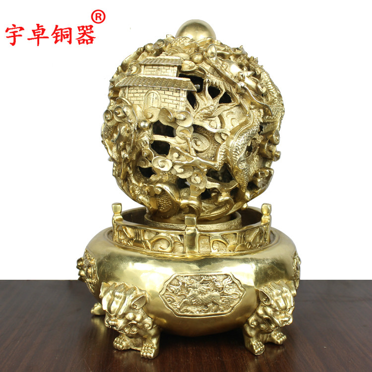 Yu zhuo turn things around nine turn things around copper bronze copper crafts home decoration ornaments transport