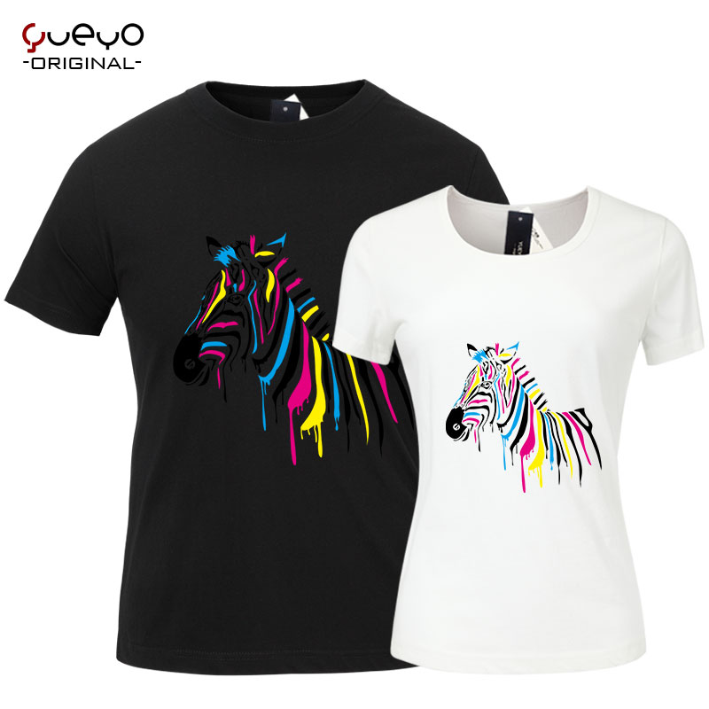 Yueyo/wyatt tour 2016 new summer short sleeve t-shirt printing tide male students sleeve female lovers zebra