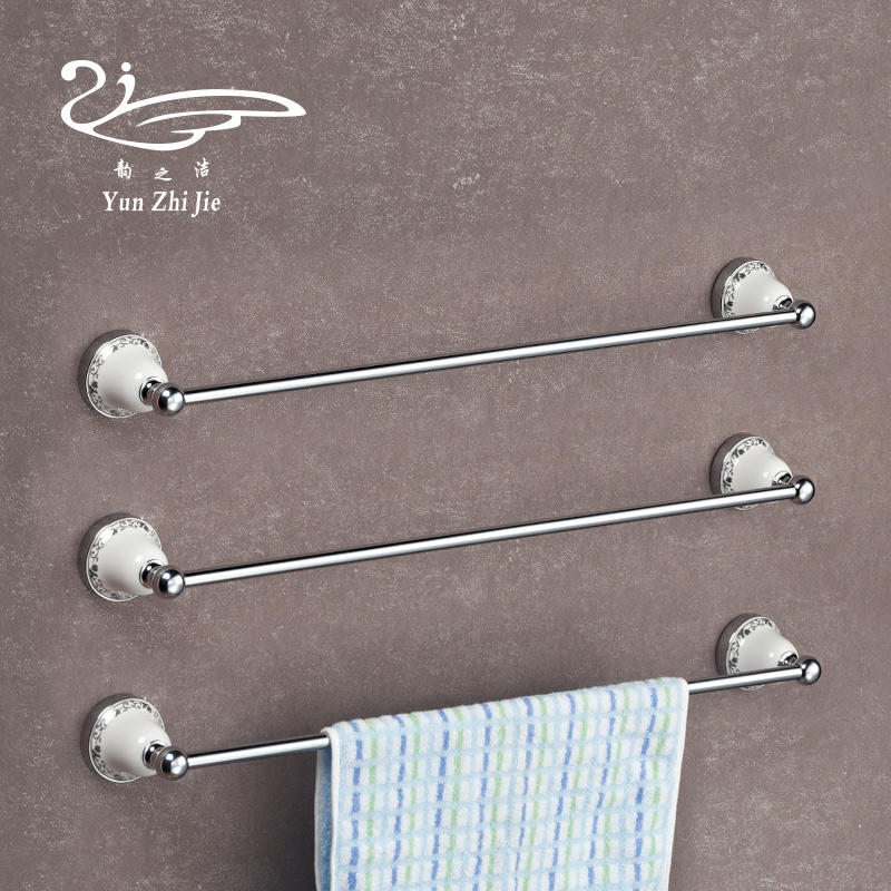 Yun jie does not rust simple and stylish stainless steel bathroom towel bar towel bar towel hanging towel rack