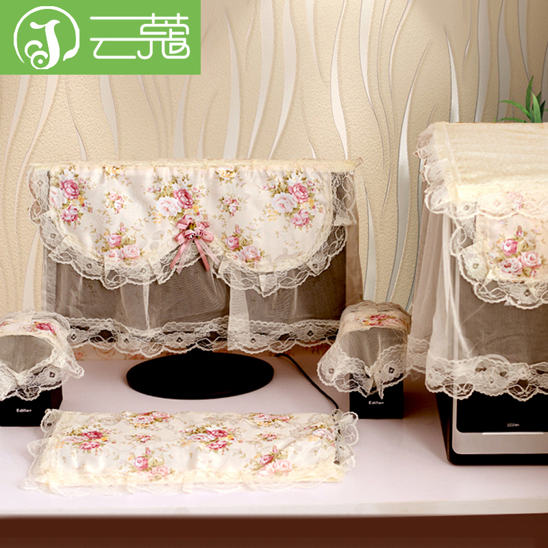 Yun kou lace computer enclosures shipping pastoral cloth cover desktop lcd monitor cover cloth dust cover wujiantao
