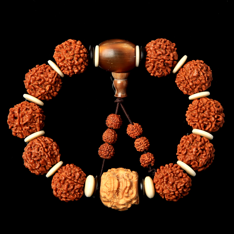 Yun wonderful natural nepal donkey kong pu tizi original seed redskins 56 five six hand string of meat grain of men and women Bracelet