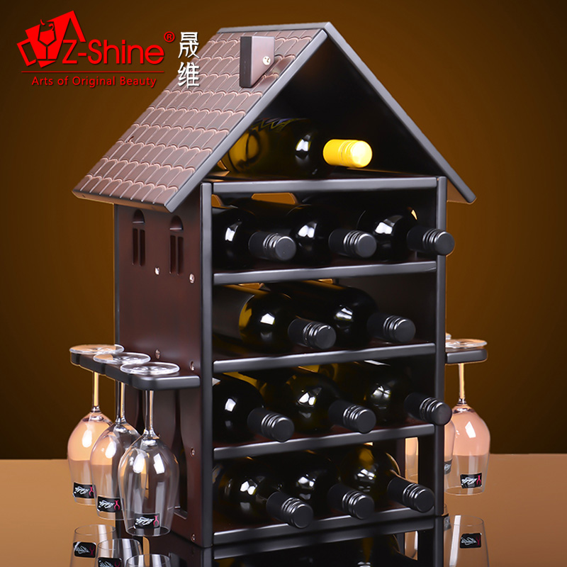Z-shine sheng dimentional hanaprene upside down cup holder wine rack wine rack creative european wine bar home accessories ornaments